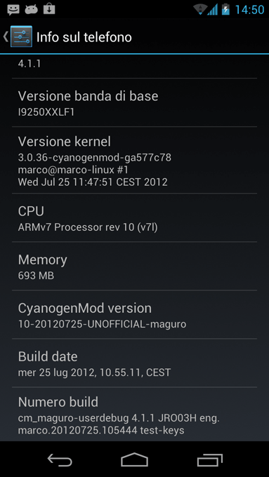 CM10 for Galaxy Nexus (Unofficial)