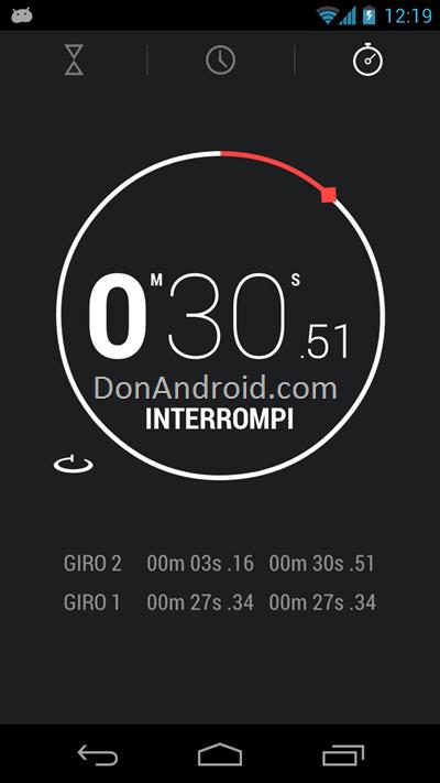 Android 4.2 Nexus 4 Clock app