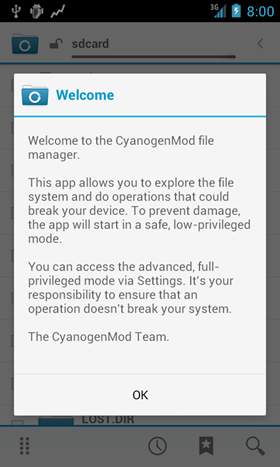 CM10 FileManager APK