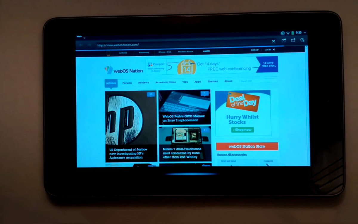 Nexus 7 webOS Ports