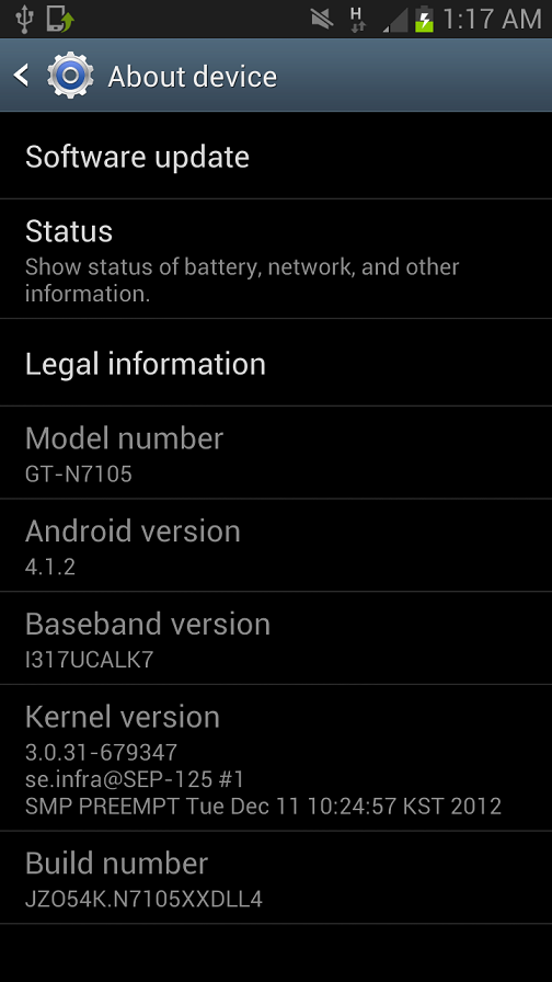 rooted N7105XXDLL4