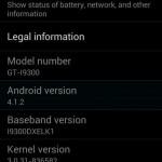 I9300XXEMA2: Jelly Bean 4.1.2 Galaxy S3 Singapore Firmware