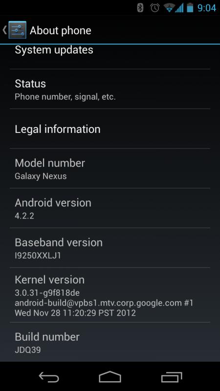 Galaxy Nexus 4.2.2 JDQ39 Update