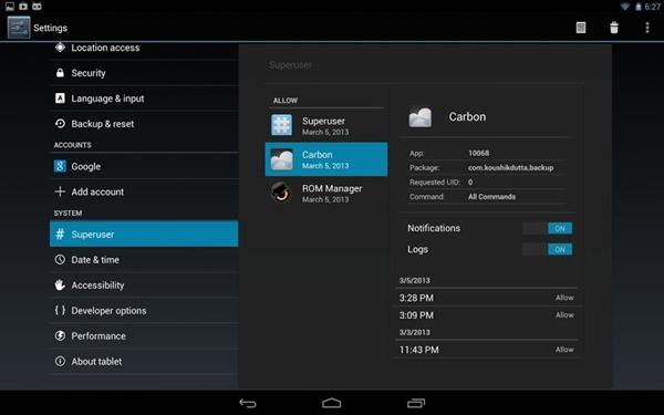CM 10.1 Superuser on Nexus 10