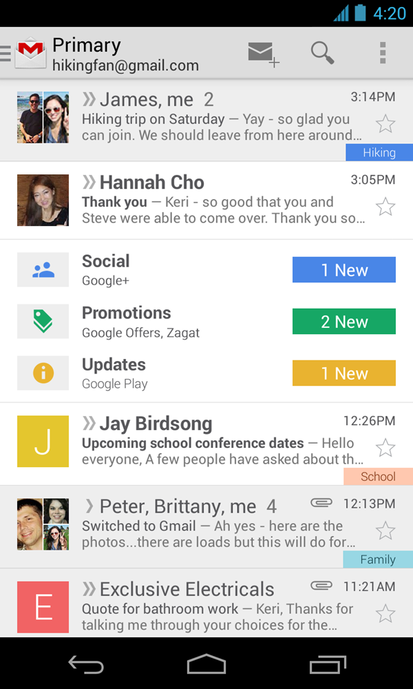 Gmail 4.5 APK for Android