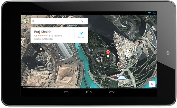 Google Maps for Tablets